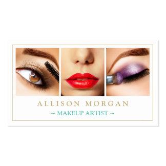 Makeup Artist Eyelashes Lips Eyeshadow Photos Pack Of Standard Business Cards