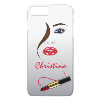 Makeup Artist Face and Lipstick in the Mirror Slim iPhone 8 Plus/7 Plus Case