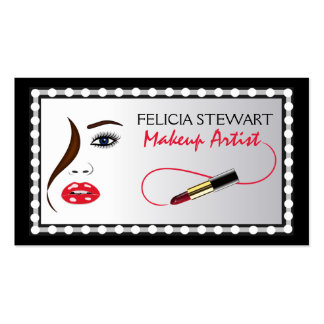 Makeup Artist Face Cosmetologist Business Card