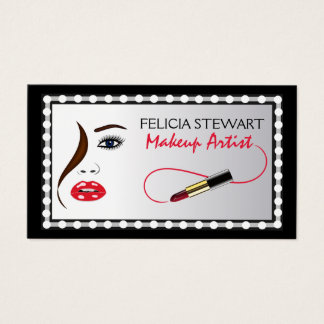 Makeup Artist Face Cosmetologist Business Card