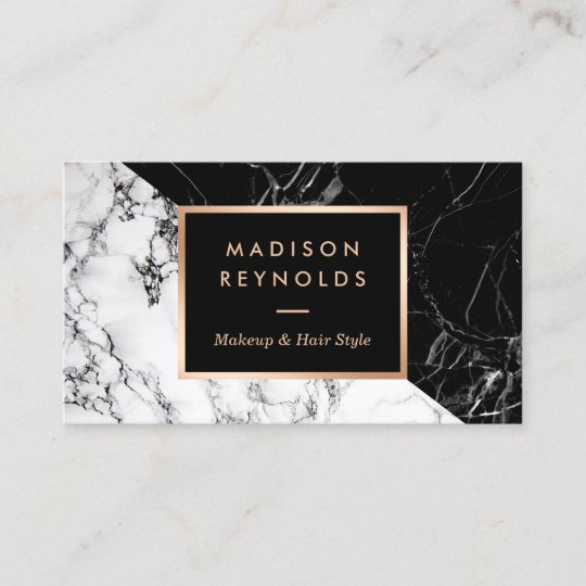 Makeup artist fashionable mixed black white marble business card makeup artist fashionable mixed black white marble business card reheart Image collections