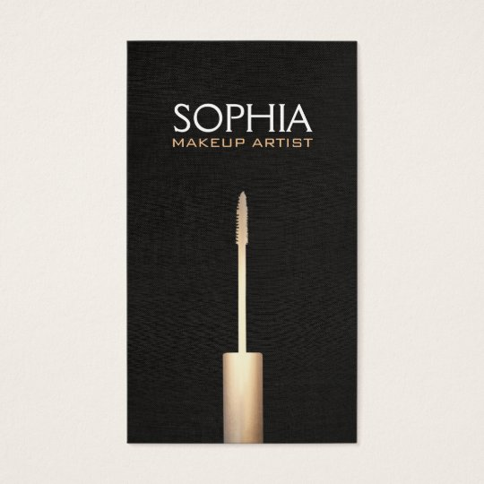 Makeup Artist Faux Gold Foil Mascara Logo Business