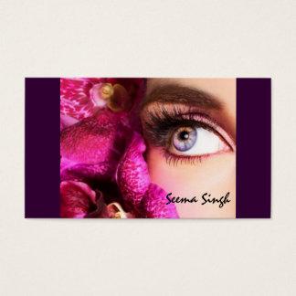 Makeup artist flower business card