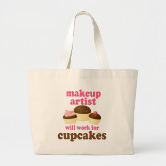Makeup Artist (Funny) Gift Large Tote Bag