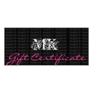 Makeup Artist Gift Certificate Pink Personalized Rack Card