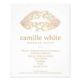 Makeup Artist Gold Lips Beauty Salon 11.5 Cm X 14 Cm Flyer