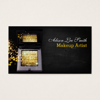Makeup Artist/Gold Magic Shimmer Brick Business Card