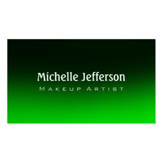 Makeup Artist Green Black Background Business Card