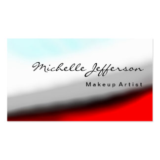 Makeup Artist Grey Red Blue White Business Card