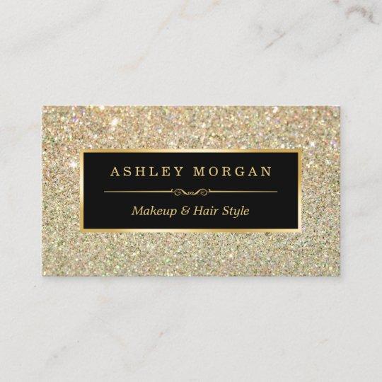 Makeup artist hair stylist funky gold glitter business card zazzle makeup artist hair stylist funky gold glitter business card colourmoves