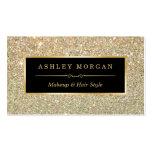 Makeup Artist Hair Stylist Funky Gold Glitter Pack Of Standard Business Cards