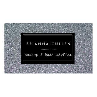 Makeup Artist Hair Stylist Funky Silver Glitter Pack Of Standard Business Cards