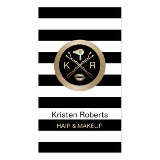 Makeup Artist & Hair Stylist Modern Stripes Pack Of Standard Business Cards