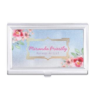 Makeup Artist Hair Stylist Vintage Floral Elegant Business Card Cases