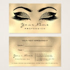 Makeup Artist Lashes Sepia Gold Appointment Card