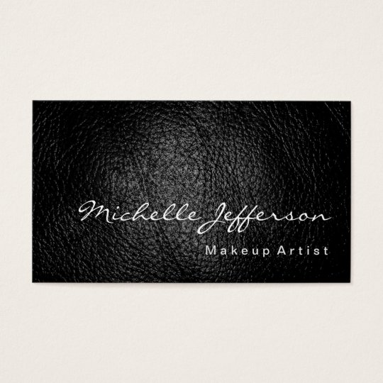 Makeup Artist Leather Effect Grey Business Card