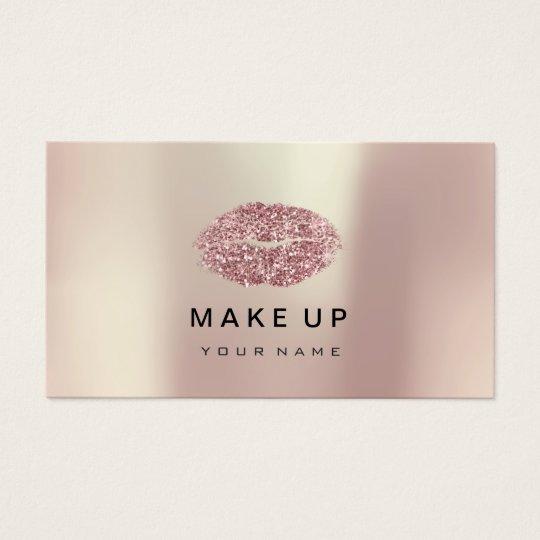 Makeup Artist Lips Pink Gold Rose Metallic Glitter