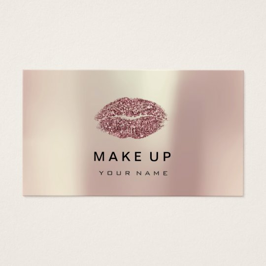 Makeup Artist Lips Pink Rose Gold Metallic Glitter