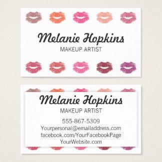 Makeup Artist Lipstick Kisses Beauty Business Card
