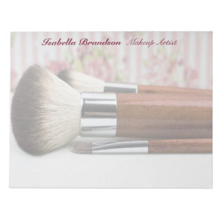Makeup Artist Makeup Brushes Notepad