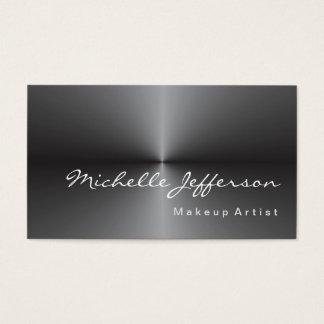 Makeup Artist Metallic Silver Gray Trendy Business Card