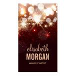 Makeup Artist - Modern Glitter Sparkle Business Card