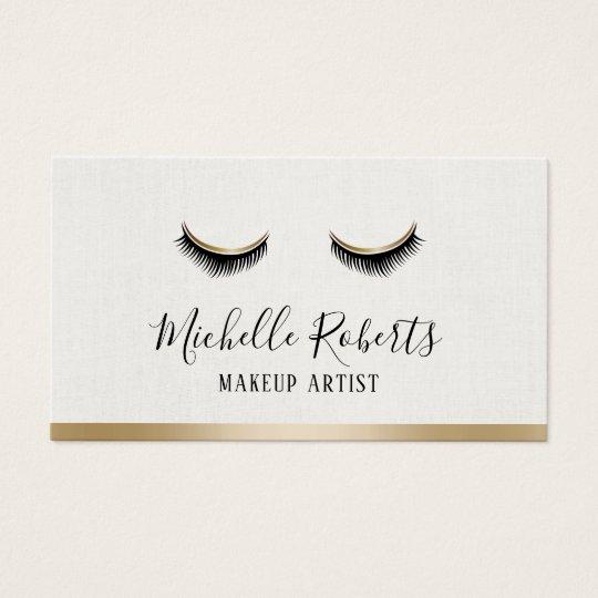 Makeup Artist Modern Gold Border Salon Appointment Business