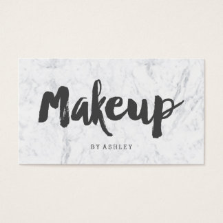 Makeup artist modern gray typography marble