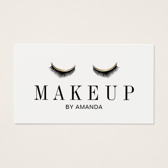 Makeup Artist Modern Lashes Salon Appointment Business Card
