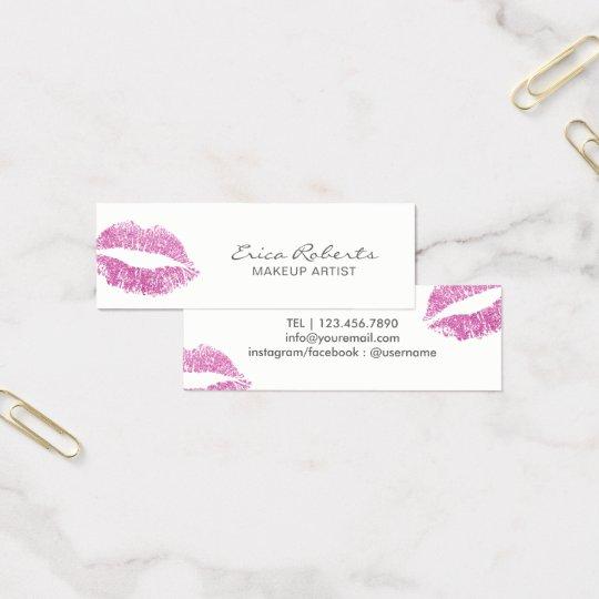 Makeup Artist Modern Pink Glitter Lips Elegant Mini