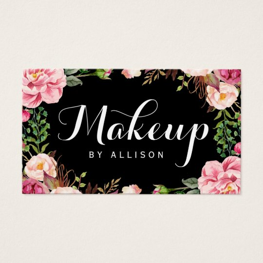 Makeup Artist Modern Script Girly Floral Wrapping Business