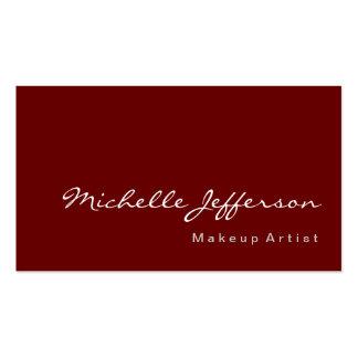 Makeup Artist Modern Simple Red Business Card