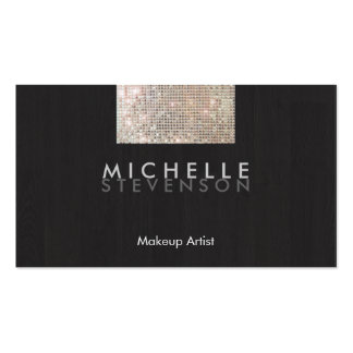 Makeup Artist Modern Stylish FAUX Sequin Black Pack Of Standard Business Cards