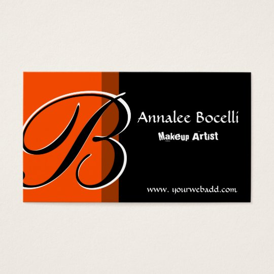 MakeUp Artist Monogram Elegant Business Card