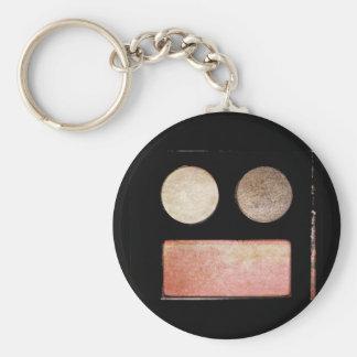 Makeup Artist Palette-Face Basic Round Button Key Ring