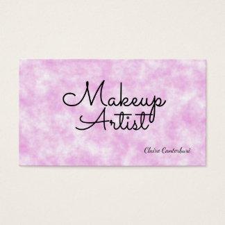 Makeup Artist Pink Clouds Business Card