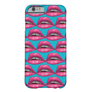 Makeup Artist Pop Art Pink Lips Barely There iPhone 6 Case