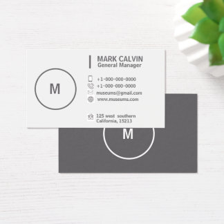 Makeup Artist Professional White Gray Business Card