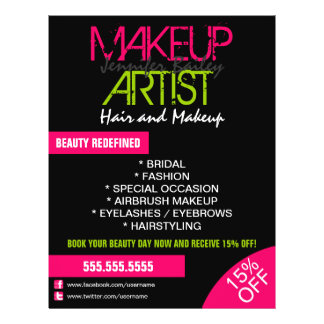 Makeup Artist Promotional 21.5 Cm X 28 Cm Flyer