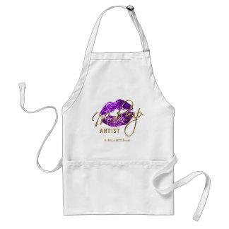 Makeup Artist - Purple Glitter Lips Standard Apron