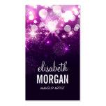 Makeup Artist - Purple Glitter Sparkles Pack Of Standard Business Cards