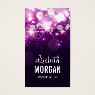 Makeup Artist - Purple Glitter Sparkles Business Card