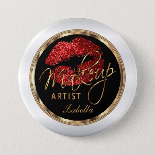 Makeup Artist - Red Glitter On Black &