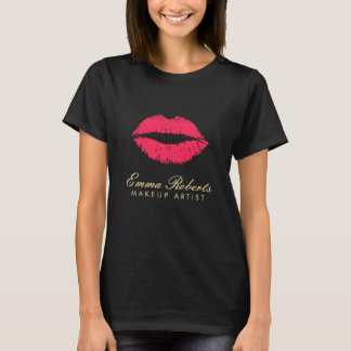 Makeup Artist Red Lips Dark T-Shirt