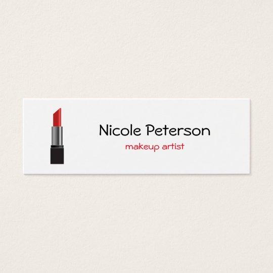 Makeup Artist Red Lipstick Mini Business Card