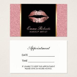 Makeup Artist Rose Gold Glitter Lips Appointment