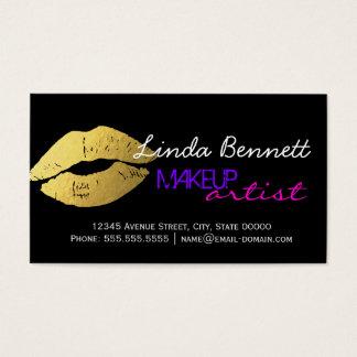 Makeup Artist - Sassy Gold Lips Dark Theme Style
