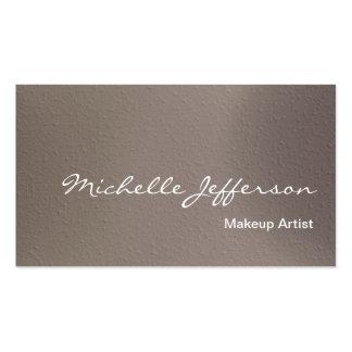 Makeup Artist Script Beige Business Card