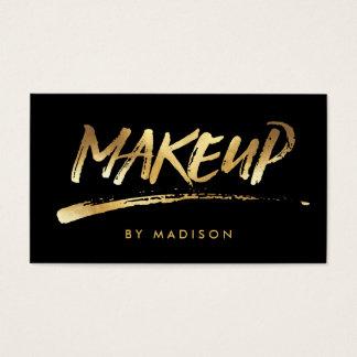 Makeup Artist Script Brush Calligraphy Gold Look