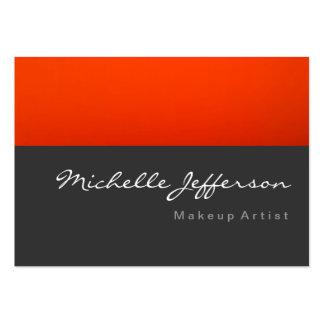 Makeup Artist Script Gray Orange Business Card